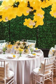 Signature Party Rentals | Wedding Inspiration | Party Planning | Decor | Wedding Reception | Wedding Shower | Tablescape | Lemon | Summer