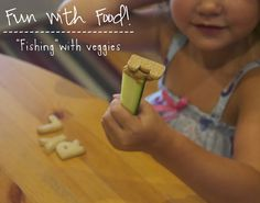 "Fun with Food | ""Fishing"" for Letters with Veggies 