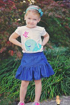 Pattern Emporium Girls Flip Skirt PDF Pattern