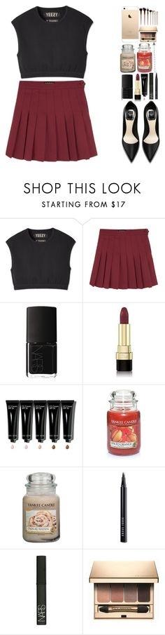"""""""Yeezy"""" by lipsy-look ❤ liked on Polyvore featuring NARS Cosmetics, Dolce&Gabbana, Bobbi Brown Cosmetics, Yankee Candle, Clarins, an, dianakhuzatyan, itsfashioninfinity, itsybitsy62 and emeraldsly"""