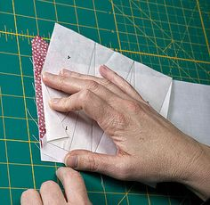 Freezer paper foundation piecing technique where you don't sew through the paper!