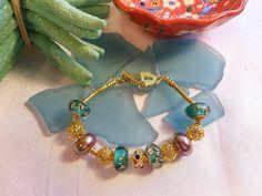 SALE GYPSY CHARM Bracelet by Nezihe1 on Etsy, $16.00