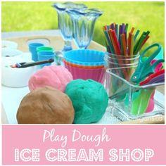 Play Dough Ice Cream Shop – Pretend Play Activity