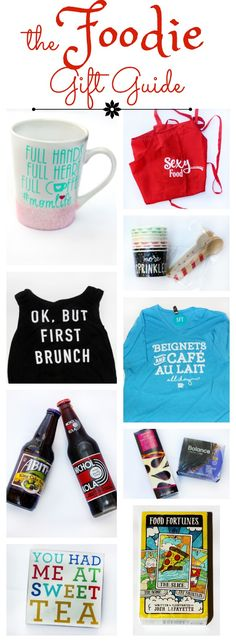 The Foodie Birthday Gift Guide - a fun collection of affordable gift ideas for the foodies in your life!