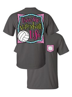 Southern Couture Livin the Volleyball Life Sports Chevron Faux Pocket Girlie Bright T Shirt from Simply Cute Tees. Saved to Volleyball. Volleyball Mom Quotes, Volleyball Outfits, Volleyball Shirts, Softball, Volleyball Bags, Beach Volleyball, Auburn Shirts, Simply Cute Tees, Cool Shirts