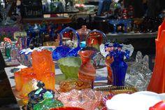 Colorful glassware, Canton, TX