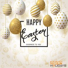 happy easter background with realistic golden decorated eggs and cute doodles. invitation template vector illustration for you poster or flyer. Easter Images Free, Happy Easter Wishes, Easter Invitations, Easter Breaks, Easter Backgrounds, Festival Image, Festival Background, Cute Doodles, Egg Decorating