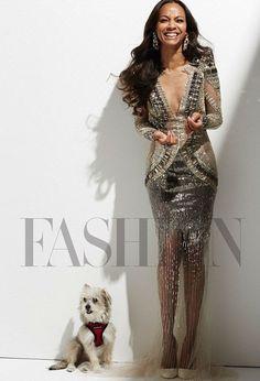 Zoe Saldana for Fashion Magazine, August 2014