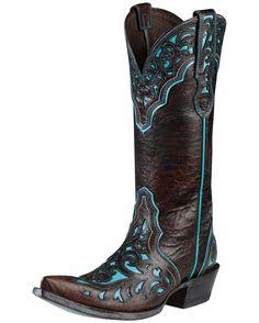 Ariat Women's Presidio Boot - Chocolate Appy/Turquoise