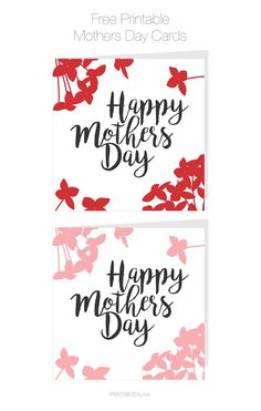 Cards by Bubi: FREE Printable Mothers Day Cards
