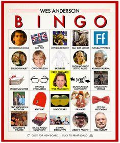 The Wes Anderson Bingo Card Generator
