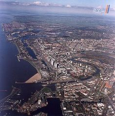 This is a photo from above Bremerhaven Germany. Shipped our car back to the U.S. from here.