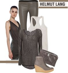 """Helmut Lang"" by nicolisandra on Polyvore"