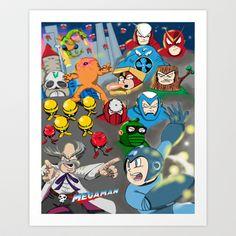 Old School Game Print: Mega Man Art Print by mauricemurdock - $14.00