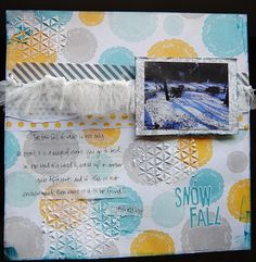 Snowfall - Scrapbook.com by Lori Wilbanks