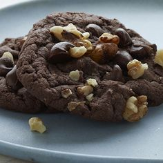 Devil's Food Fudge Cookies: A mixture of Duncan Hines Devil's Food Cake Mix, chocolate chips, and walnuts give these Devil's Food Fudge Cookies the flavor you crave. And they'll be extra moist and chewy if you ensure they don't over bake.
