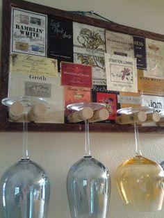 Decorative Label Wine Glass Holder by GulfCoasters on Etsy