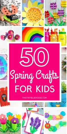 Celebrate the warmer weather and beginning of spring blooms with these 50 delightful spring crafts for kids. Bright, cheerful and fun to make these crafts are guaranteed to be a hit with kids starting as young as Kids Crafts, Spring Crafts For Kids, Spring Projects, Summer Crafts, Preschool Crafts, Easter Crafts, Art For Kids, Toddler Arts And Crafts, Arts And Crafts For Kids Toddlers