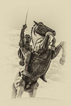 Horseman Photograph - Alexander The Great by Yevgeni Kacnelson Ancient Egyptian Art, Ancient Aliens, Ancient Greece, Ancient History, Native American History, European History, Alexander The Great Statue, Alexandre Le Grand, Greek Warrior