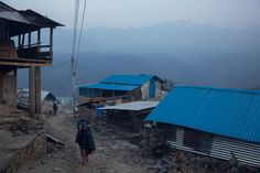 The village of Barpak, in Gorkha district, Nepal, at the epicenter of the  2015 quakes, which destroyed almost the entire village, April 5, 2016.
