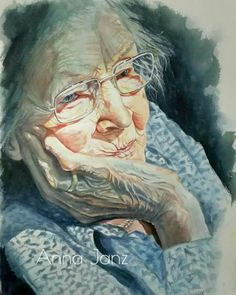 Awesome watercolor work by anna janz shared by veri apriyatno artist Watercolor Portraits, Watercolour Painting, Painting & Drawing, Watercolors, Portrait Art, Portrait Ideas, Figurative Art, Painting Inspiration, Art Drawings
