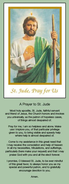 Thank you Saint Jude for answered prayers - patron of hopeless cases, of things almost despaired of. Prayer Verses, Faith Prayer, God Prayer, Prayer Cards, Bible Verses, St Jude Novena, St Jude Prayer, Catholic Religion, Catholic Saints