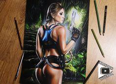 Lara Croft - Based on old design, Blondynki Też Grają on ArtStation at https://www.artstation.com/artwork/0rEl5