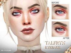 Eyes: Talfryn Eyebags by Pralinesims from The Sims Resource The Sims, Sims Cc, Sims 4 Cc Eyes, Vides, Beauty Soap, Sims Resource, Combination Skin, Dark Circles, Good Skin