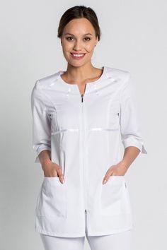 Scrubs Pattern, Beauty Uniforms, Sewing Paterns, Scrubs Uniform, Nurse Costume, Nursing Clothes, Thalia, Tunic Tops, Rompers