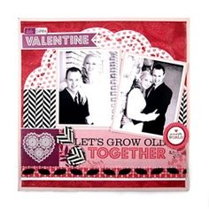 Cute Valentines Day layout.  #wermemorykeepers #lucky8 #paperpunches