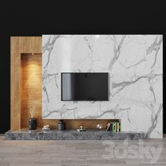Tv Sets, Wood Stone, Modern Materials, Shelves, Windows, Mirror, Wall Tv, Models, 3d