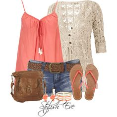 Casual Summer Outfit Set by Stylish Eve (stylisheve) on Polyvore!