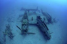 Airplane wreck P38