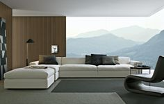 Poliform Dune sofa love the sofa but look at scenery of mountains in back ground wow beautiful