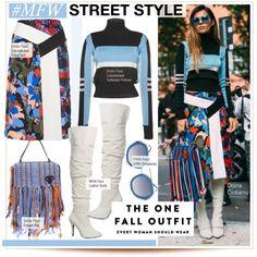 MFW Street Style by kusja on Polyvore featuring Emilio Pucci, StreetStyle, fashionWeek, milanfashionweek and mfw