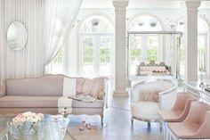 blush + white, modern + vintage