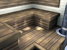 Sauna Design, Saunas, Carpentry, Spa, Relax, Wood, Outdoor Decor, Kindergarten, Wellness
