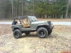 xcingmike 1992 Jeep YJ Specs, Photos, Modification Info at CarDomain Old Jeep, Jeep Cj7, Jeep Wrangler Yj, Jeep Stuff, Black Labs, Jeep Cherokee, Jeep Life, Lifted Trucks, Cool Trucks