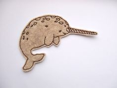 Iron On Patch Narwhal Embroidery  Felt Animal