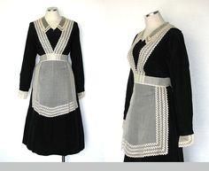 Vintage 30s Maid Costume / 30s Servant Dress / by DeannesVintage, $137.00