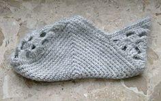 Receitas de Crochet: Pantufa Cinza