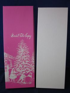 MARSHALL FIELDS Christmas Gift Box PINK for Gloves or Tie #MARSHALLFIELDS