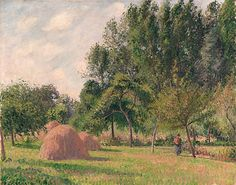 Camille Pissarro | Haystacks, Morning, Éragny 1899 63.5 x 80 cm