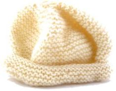 Quick & easy baby hat knitted in fine weight (2) yarn