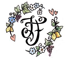 A personalized hand drawn logo gives the flavour of the couple and their wedding day