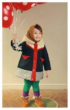 Girl's winter coat for Everyday Christmas door hellodearkids, $40,00