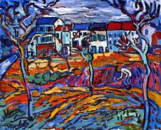 Houses at Chatou      Maurice de Vlaminck - 1903