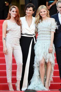 Kristen Stewart, Juliette Binoche y Chloe Moretz -  La alfombra roja del Festival de Cannes 2014