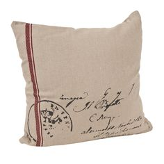 Get the vintage seal of approval with this antique inspired pillow.