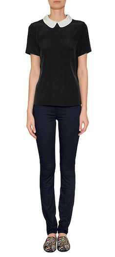 pretty top. wear with sophisticated skirt or tailored pants, belt and HEELS. corporate fashion. CORMONY.